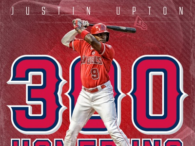 Justin Upton 300 Homeruns Graphic for Reynolds Sports Management mlb social branding brand design sports