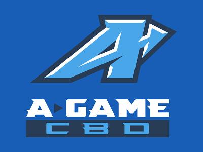 A Game CBD Logo branding illustration brand identity logo sports