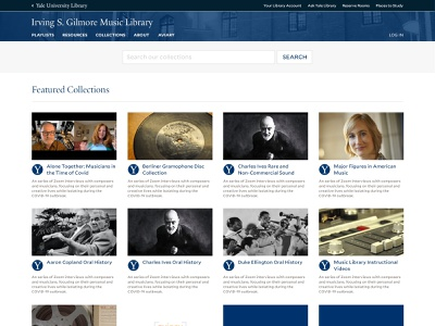 Yale Library - Gilmore Library Redesign Concept website design higher education