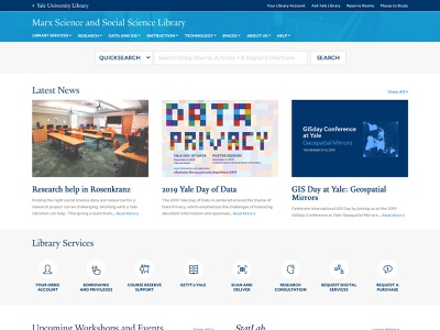 Yale Library - Marx Library Concept yale higher education website concept
