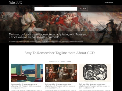 Yale LUX Redesign Concept website concept higher education library yale