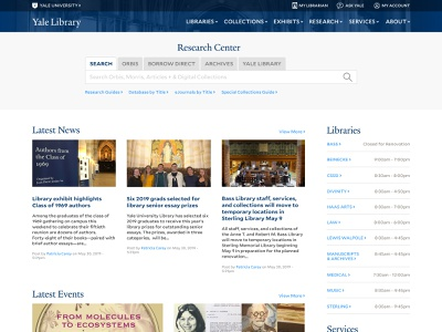 Yale Library 2019 Redesign Concept website concept higher education library yale