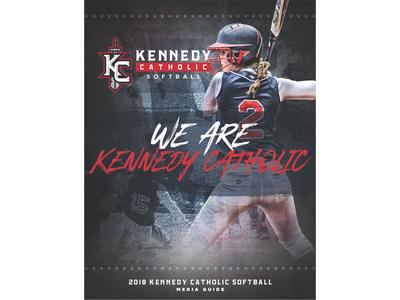 2018 Kennedy Catholic Softball Media Guide Cover media guide softball sports