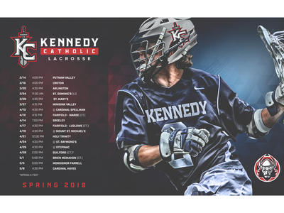 2018 Kennedy Catholic Lacrosse Schedule comp sports mock schedule sports lacrosse