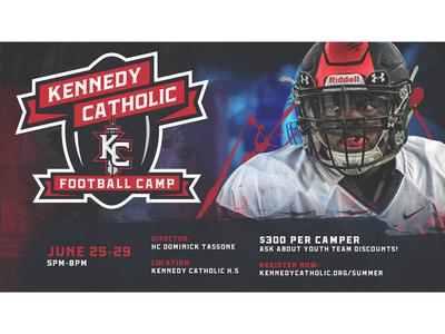 2018 Kennedy Catholic Football Camp mockup football sports