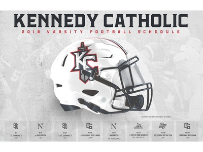 Kennedy Catholic Football 2018 Schedule Poster schedule mockup football sports