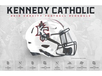 Kennedy Catholic Football 2018 Schedule Poster