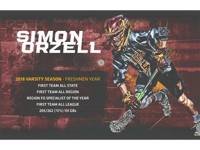 Simon Orzell Lacrosse Graphic poster sports lacrosse