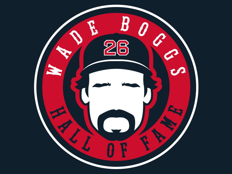 Official Wade Boggs Logo baseball badge sports logos