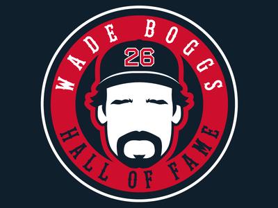 Official Wade Boggs Logo baseball badge sports logos