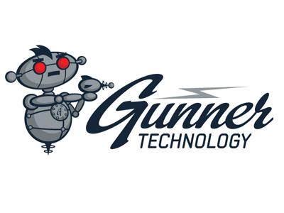 Gunner Technology Logo logo design vector retro robot illustrator