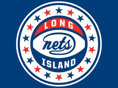 LI Nets Logo Concept clean nba basketball logos sports concept