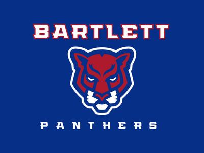 Bartlett Panthers Logo brand identity vector illustrator sports design logo