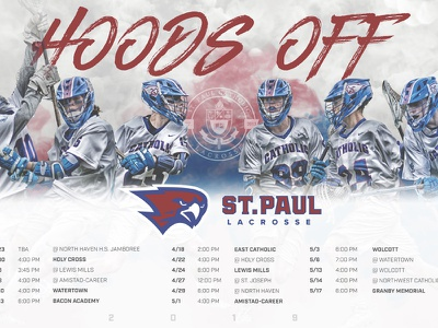 St. Paul Lacrosse 2019 Schedule Poster graphic design branding sports graphics poster lacrosse design sports