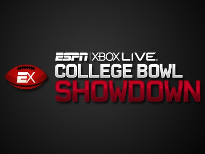 ESPN XBox Live College Bowl Showdown espn xbox sports red black logo dark vector illustrator