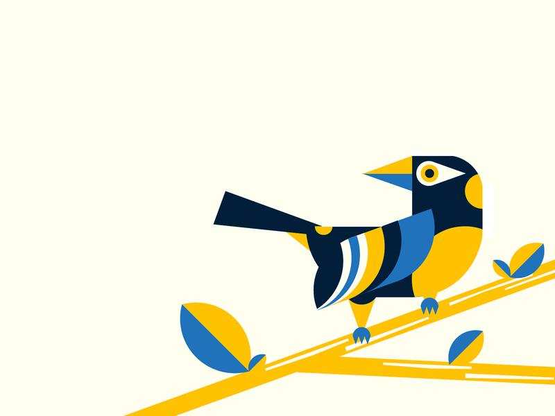 Geometric Venezuelan Troupial Illustration venezuela geometric art small bird birds bird illustration flat design vector art art geometrical geometry geometric