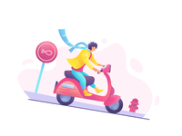 Vespa Riding