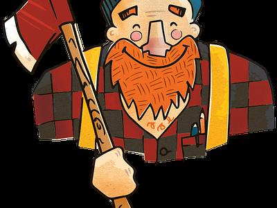 ChangeLogger illustration lumberjack cartoon