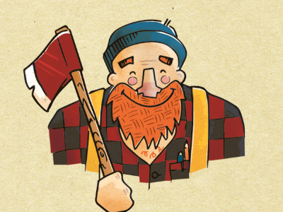 ChangeLogger illustration lumberjack cartoon