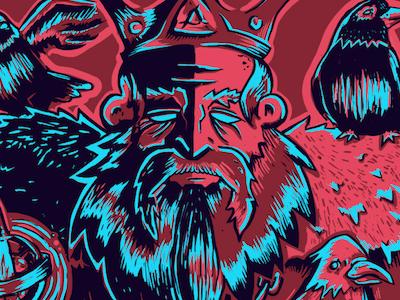 Mad King Ruby birds. king illustration