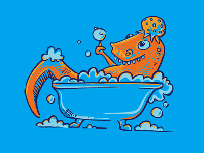 Rubba Dub Dub bubbles tub dinosaur