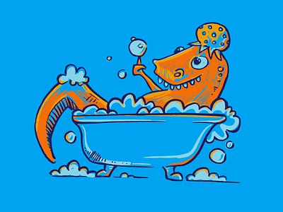 Rubba Dub Dub bubbles tub dinosaur