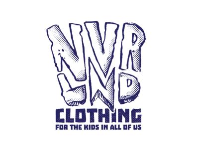NVRLND CLOTHING LOGO halftones logo