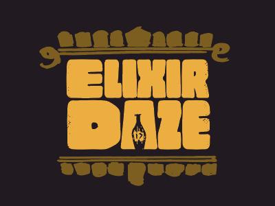Elixir Daze Conference Logo conference bottle daze elixir logo