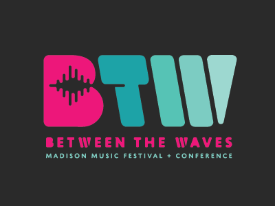 Between the Waves Conference Logo wave sound conference logo