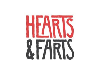 My new side thingy. typogaphy farts hearts logo