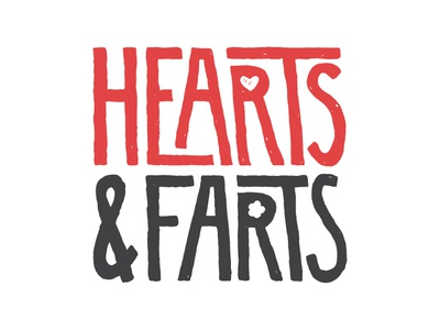 My new side thingy. typogaphy farts hearts logo