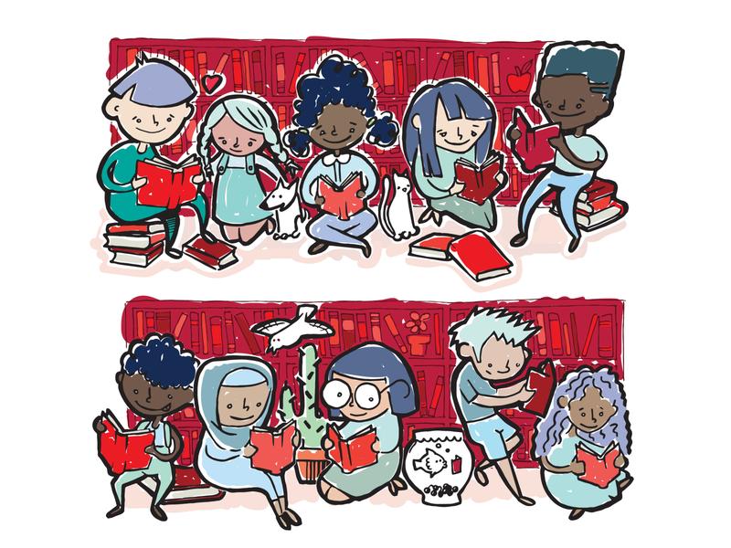 Madison Reading Project van design cartoon diversity illustration kids books