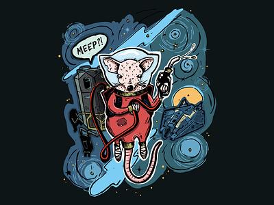 Fuel Rat T-shirt design robots space rat illustration fuel rat