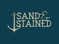 Sand & Stained Logo branding woodworking sailor anchor logo stained sand