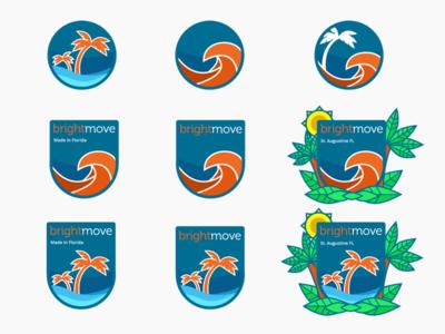 Brightmove Florida Badges ocean water sun palm tree wave badges badge brightmove