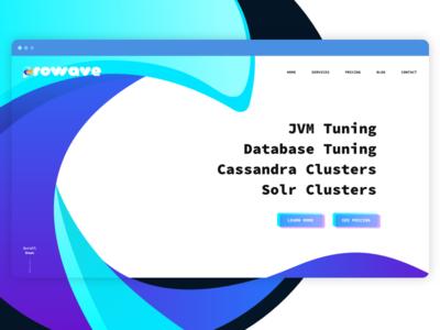 Prowave Hero Concept web pro wave landing hero prowave