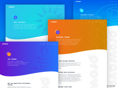 ProWave Service Page Templates consulting java icons hero colorful gradient web wave prowave