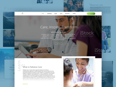 Pallative Care Landing Page medical care home landing hospice cancer pallative web