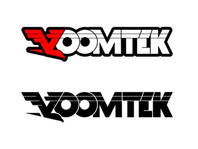 VoomTek Logo Text fast motion hawk flight bird eagle logo voom