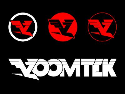 VoomTek Logo Variations eagle hawk bird fast motion logo voom