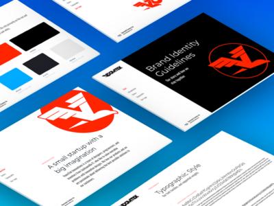VoomTek Brand Guidelines fast motion bird eagle hawk logo guide color variations typography styles brand brand book brand guidelines voom