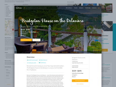 BnBFinder Redesigns listing page bnb webdesign web design website