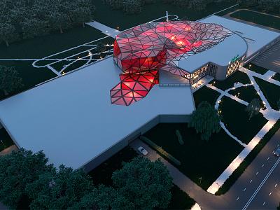 elek architecture 3dsmax render center
