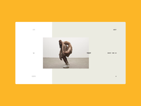 YEEZY BOOST 350 V2 website web ux ui typography promo editorial interaction