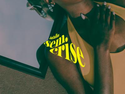 Batalha Sem Crise logo blaxploitation social urban hip hop visual identity design branding