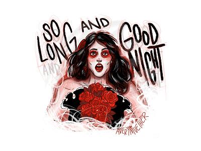 Helena. illustration dark art death procreate ipad 3 cheers for sweet revenge helena my chem my chemical romance