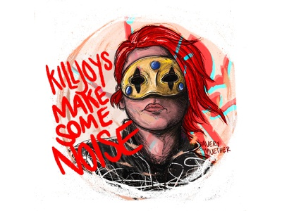 Na Na Na Na Na Na. illustration procreate ipad music lyrics emo danger days killjoy my chem my chemical romance