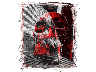 When Will it End dark art collage art texture procreate spooky skull photo editing collage