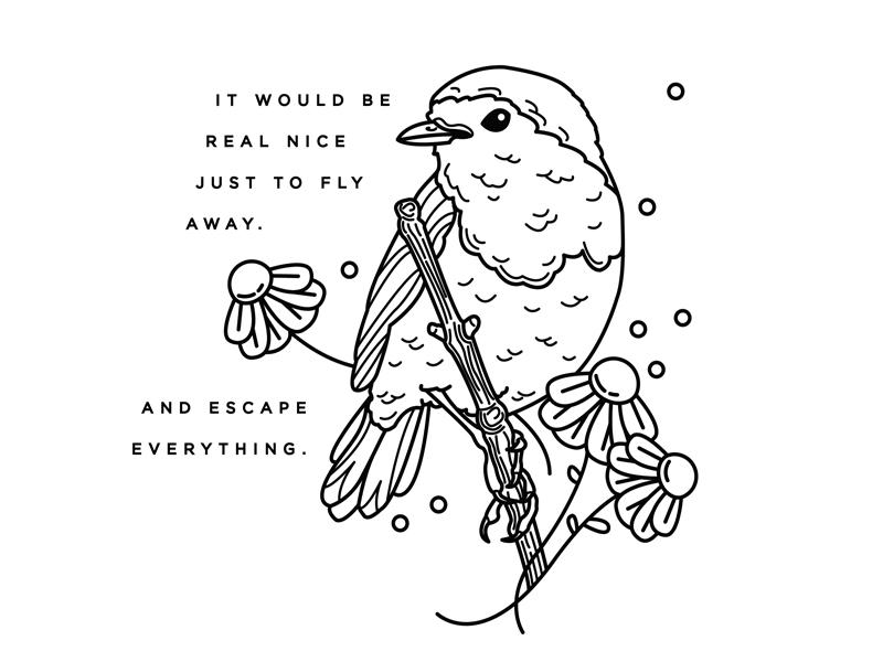 Broken Wing lyrics broken wing alkaline trio flowers tattoo vector bird illustration