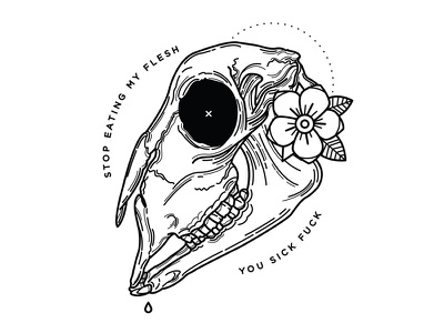 Easter Lamb. illustration lamb go vegan plant based tattoo veganism vegan